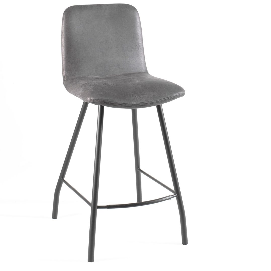 Tabouret-snack-bar-chaise-haute-gris-metal-couleur